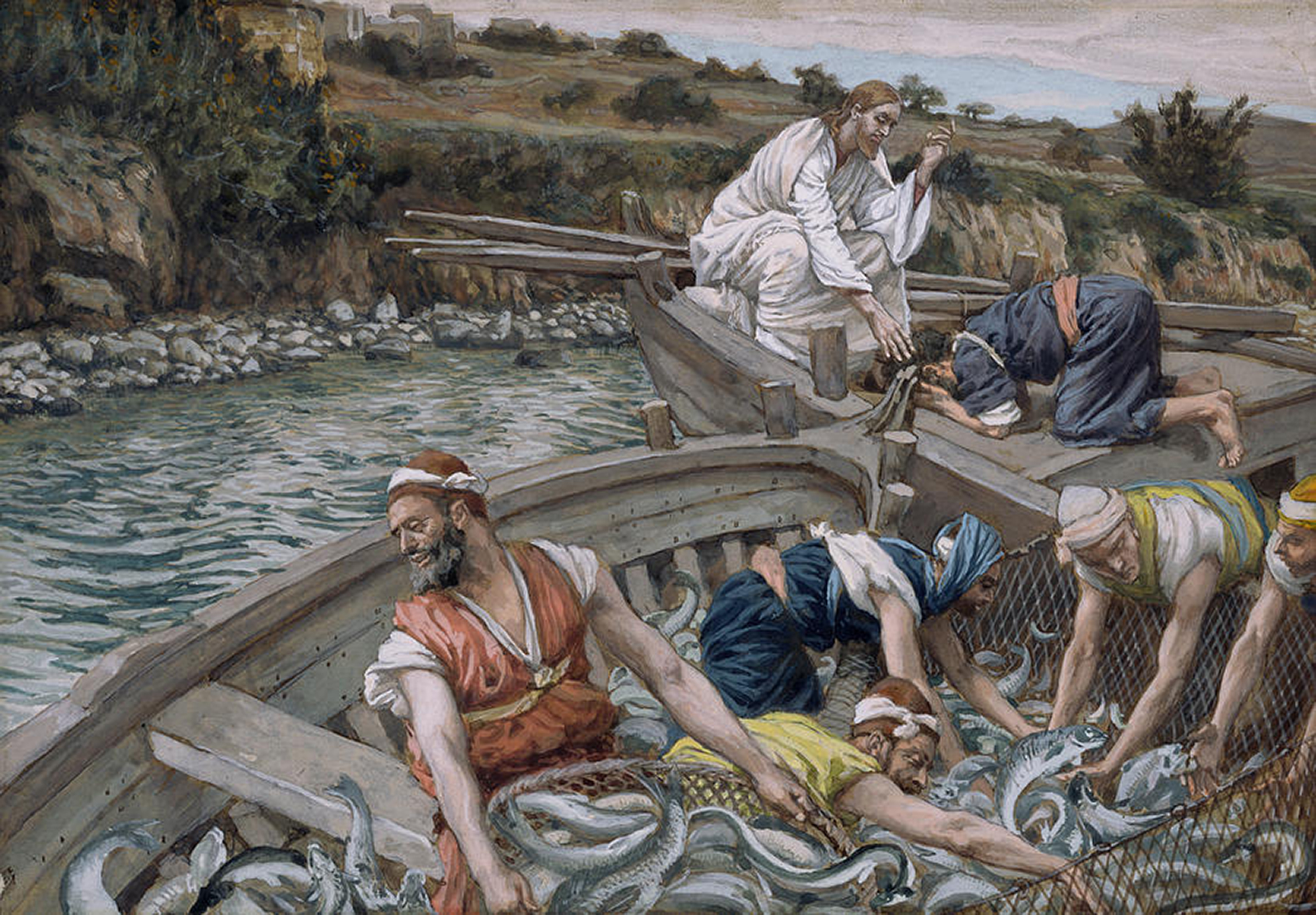 the-first-miraculous-draught-of-fish-tissot